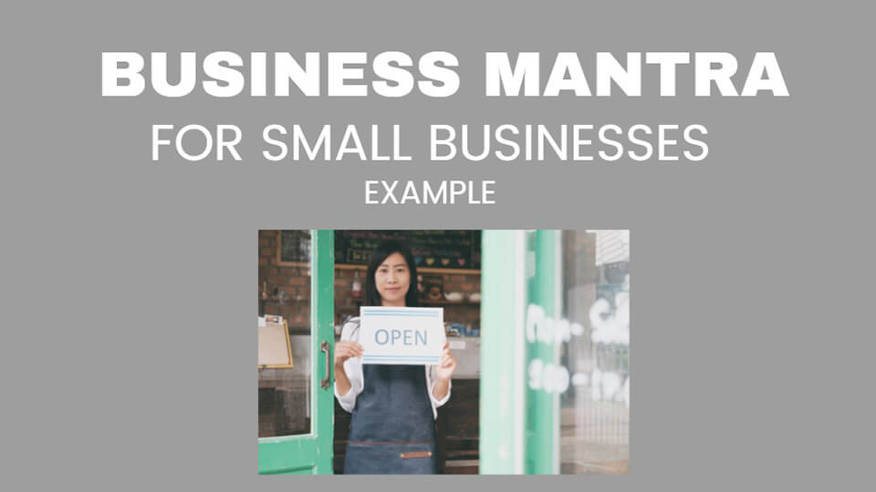 Image Business Mantra for Small Businesses